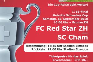 Cup 1/16 Finale - Die Reise geht weiter - Begleite den SC Cham