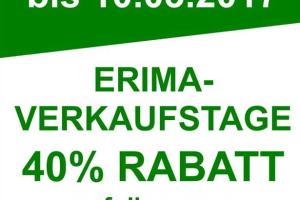 Nicht Vergessen! Erima Verkaufstage 2017