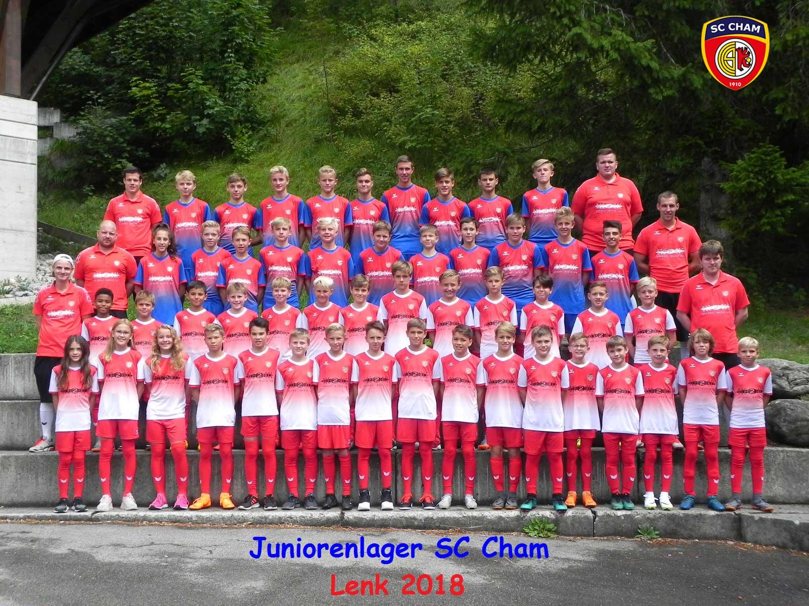 Unsere Juniorinnen und Junioren im Lager in Lenk